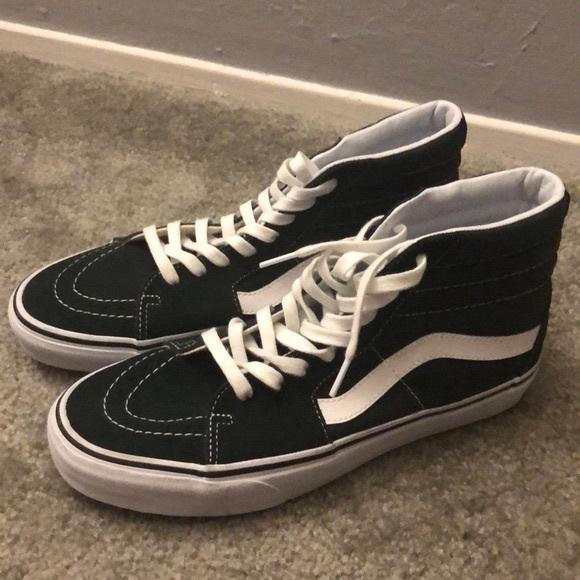 Vans Shoes   Green Hightop Vanes   Poshmark